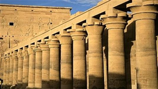 Luxor temple of the great ancient egyptian temples complex is located