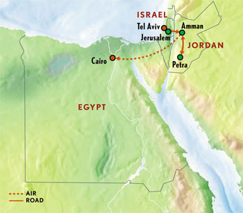 Egypt Jordan Jerusalem - Map of egypt jordan and israel