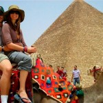 Egypt camel ride by the pyramids